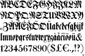 black letter font fontscape home classification blackletter fraktur