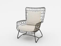 palecek dining chairs. palecek capri outdoor wing dining chair black - 3docean item for sale palecek dining chairs