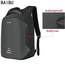 BAIBU New men 15.6 <b>Laptop Backpack</b> Anti Theft Backpack <b>Usb</b> ...