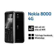 Điện thoại di động Nokia 8000 4G Dual Sim (2020) - Hàng Chính Hãng