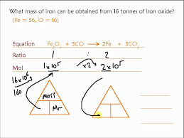 mass of iron fe formed from iron oxide fe2o3 moles calculation