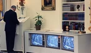 lbj oval office. Lyndon Johnson Checking The Breaking News On His Oval Office Lbj