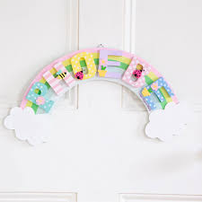 bedroom wall plaques. Rainbow Door Plaque | JoJo Maman Bebe Bedroom Wall Plaques