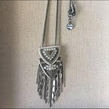 details about nwot stella dot chiara pendant necklace in silver