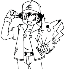 ash and pikachu coloring pages coloring pages charming ash and coloring pages print free printable sheets
