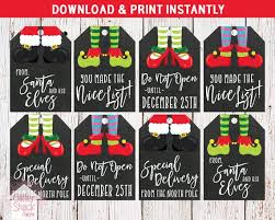 Printable Christmas Gift Tags Holiday Gift Tags Christmas Tags Holiday Tags Xmas Tags Elf Tags Elf Christmas Tags Instant Download