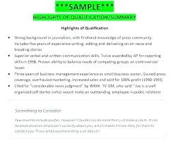 Sample Of Qualifications In Resumes Summary Of Qualifications Sample Resume For Sales Examples Statement