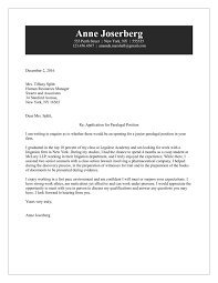 paralegal cover letter cover letter paralegal