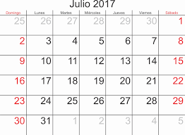 July 2017 Monthly Calendar Awesome Calendar July 2017 Template