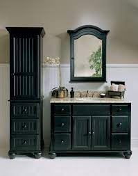 Black Is The New Black Abode Black Cabinets Bathroom Black Bathroom Black Vanity Bathroom