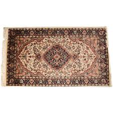 elegant black white 3 5 persian hand knotted wool rug