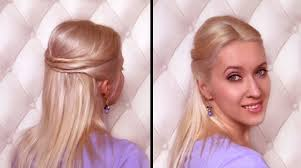 Hair Style For Straight Hair easy half updo hairstyle for medium hair 8260 by wearticles.com