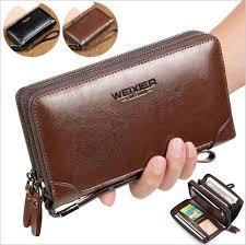 Details about Men Handbag Clutch Bag Genuine Leather Cell ...