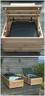 diy patio wood lounge bed instructions diy outdoor patio furniture ideas