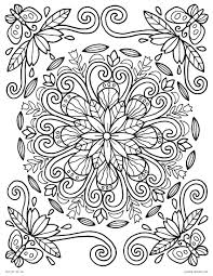 Fabulous Free Printable Coloring Pictures Lmj Page Spring Mandala