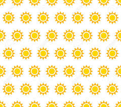 Sun Pattern Stunning Repeatable Pattern Background With Small Sun Shapes Stock Photo
