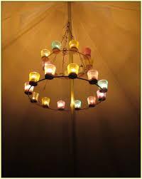 tea light chandelier bell tent