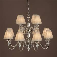 interiors 1900 polina 12 light chandelier polished nickel crystal lx124p12n