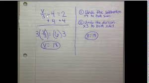 solving a two step equation with integers