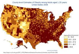 obesity and altitude obesity panacea age adjusted obesity prevalence by county this image was obtained from cdc