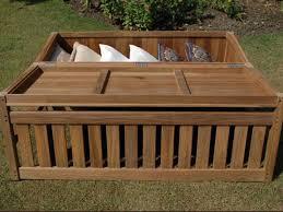 teak garden spacious storage bench