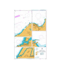 British Admiralty Nautical Chart 1912 Ports On The North And West Coasts Of Morocco