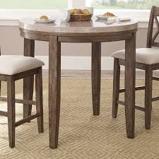 steve silver franco marble top round counter height dining table com