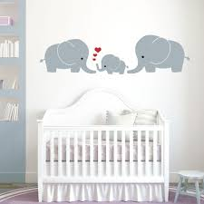 elephant family mum dad baby baby nursery wall art sticker