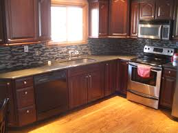 Kitchen Best Dark Kitchen Cabinets Backsplash Fascinating Black