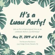 Tropical Party Invitations Customize 102 Luau Invitation Templates Online Canva