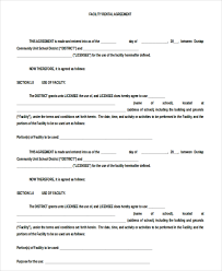 Standard Rental Agreement Template Free Printable Standard Lease Agreement Download Them Or Print