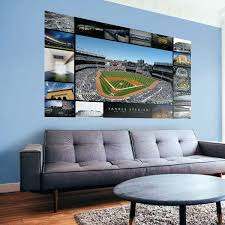 new stadium then and now mural fathead yankees wall art yankee canvas  on yankees canvas wall art with new wall art yankees yankee stadium canvas ticketwave