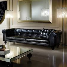 these stunning black leather sofas