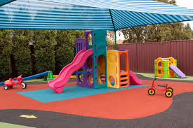 playground flooring material rubber surface poured in