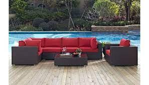 convene outdoor patio sectional sofa set