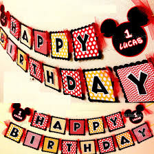 make your own birthday banner make your own mickey mouse happy birthday party paper flag bunting