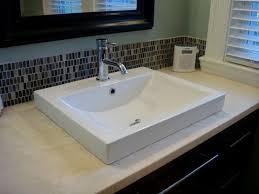 bathroom sinks fashionable design inset bathroom sinks xyuim white semi recessed sink set in honed travertine