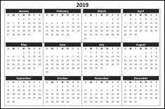 Calendar Template For Word 2019 Holiday Calendar Free Monthly Printable Calendar Template