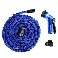50ft garden hose flexible x water with spray car wash pipe retractable watering telescopic rubber 50ft garden hose
