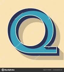 3D Letter Q Retro Vector Text Style, Fonts Concept  Vector by aomvector