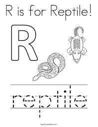Small Picture Reptile Coloring Pages Twisty Noodle