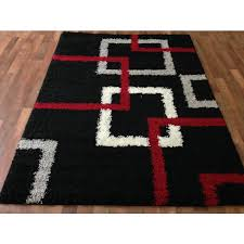 incredible red black white contemporary modern carpet area rug new age pertaining to red black and gray area rugs