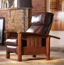 Stickley Morris Recliner Living in Leather