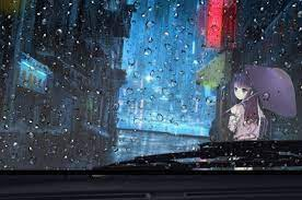2560x1700 Anime Girl Rainy Day View ...