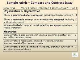 Compare Contrast Essay Rubric And Contrast Essay Rubrics Essay Sample November 2019