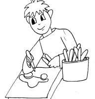 Disegno Di Un Ragazzo Che Disegna