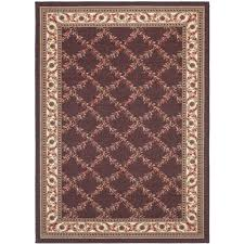 rug brown 5x7 area rug awesome ottomanson fl trellis design 5 ft x 6 in