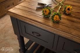 saxon wood countertop for gray cabinetrs