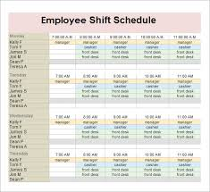 employee schedules templates sample employee schedule 13 documents in pdf word