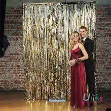100pcs lot 3feet gold curtain metallic foil wedding